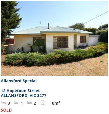 Real estate appraisal Allansford VIC 3277