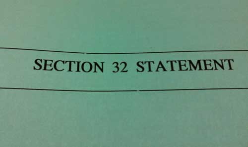 What is a section 32?